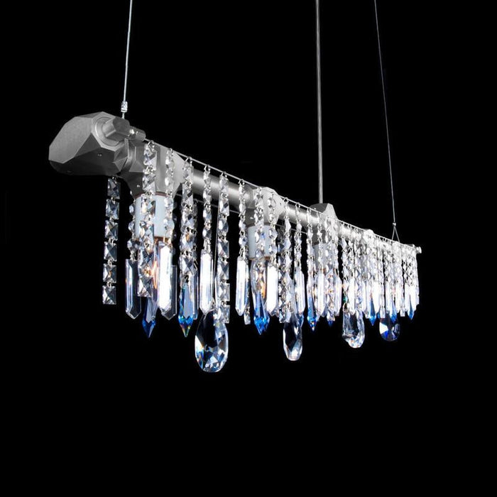 Bryce collection linear chandelier bryce collection modern chandelier modern lighting swarvoski aluminum sparkly lighting mozeypictures Image collections