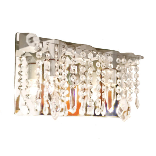 Bryce Swarovski Sconce - Unique Artistic industrial chic modern crystal linear chandeliers, pendants, lamps and lighting from Michael McHale Designs