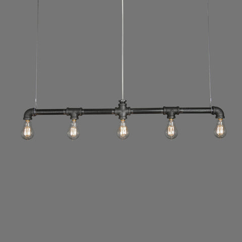 Raw Collection 5-Bulb Bar Linear Suspension