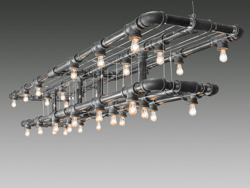 Raw Collection Double-Decker Linear Suspension - unique artistic lighting from Michael McHale Designs