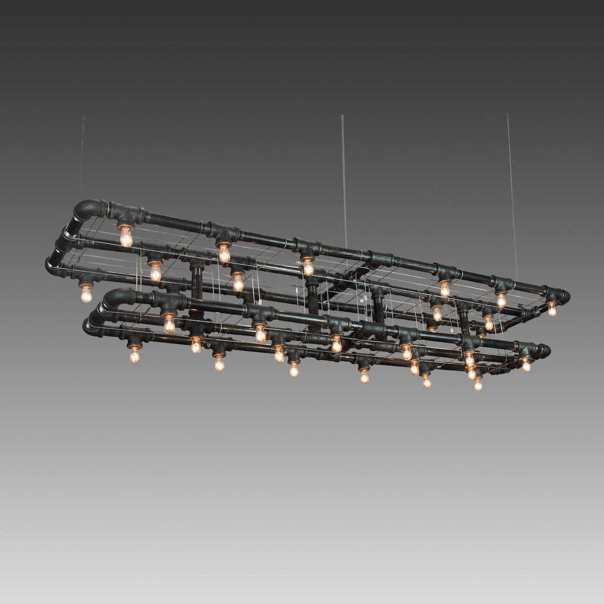 Raw Collection Double-Decker Linear Suspension