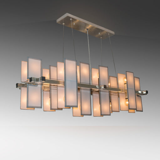 Matrix Mid-Century Panel Suspension - Unique Artistic industrial chic modern crystal linear chandeliers, pendants, lamps and lighting from Michael McHale Designs
