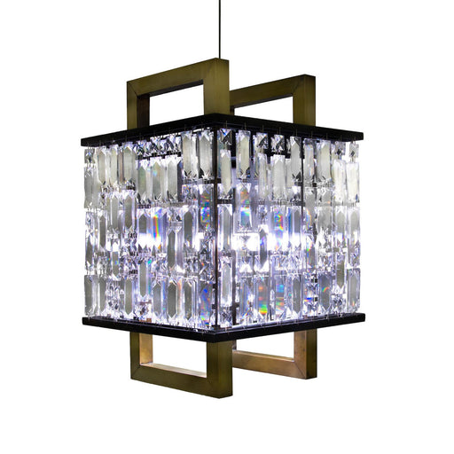 Bushwick Lantern SMART CHANDELIER PENDANT - Unique Artistic industrial chic modern crystal linear chandeliers, pendants, lamps and lighting from Michael McHale Designs