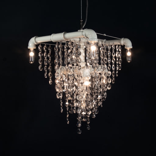 LIMITED EDITION Tribeca 9-Bulb Chandelier Pendant in DOVER WHITE