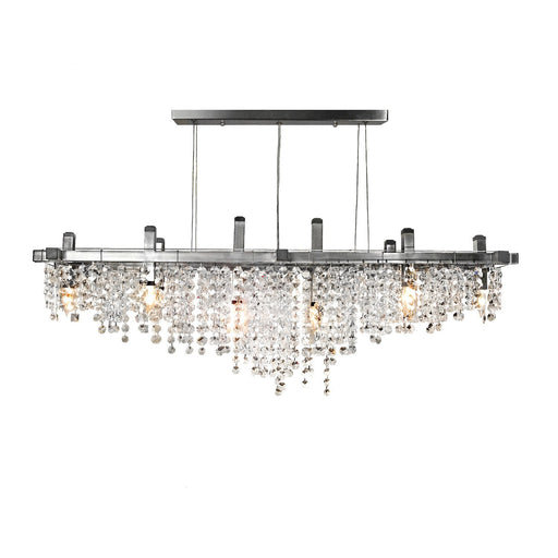 Matrix Crystal Linear Suspension - Unique Artistic industrial chic modern crystal linear chandeliers, pendants, lamps and lighting from Michael McHale Designs