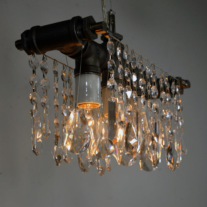 Industrial Three Bulb Chandelier Pendant