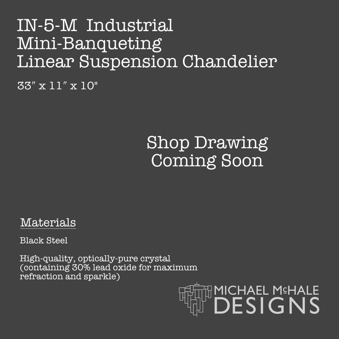 Industrial Mini-Banqueting Linear Suspension Chandelier