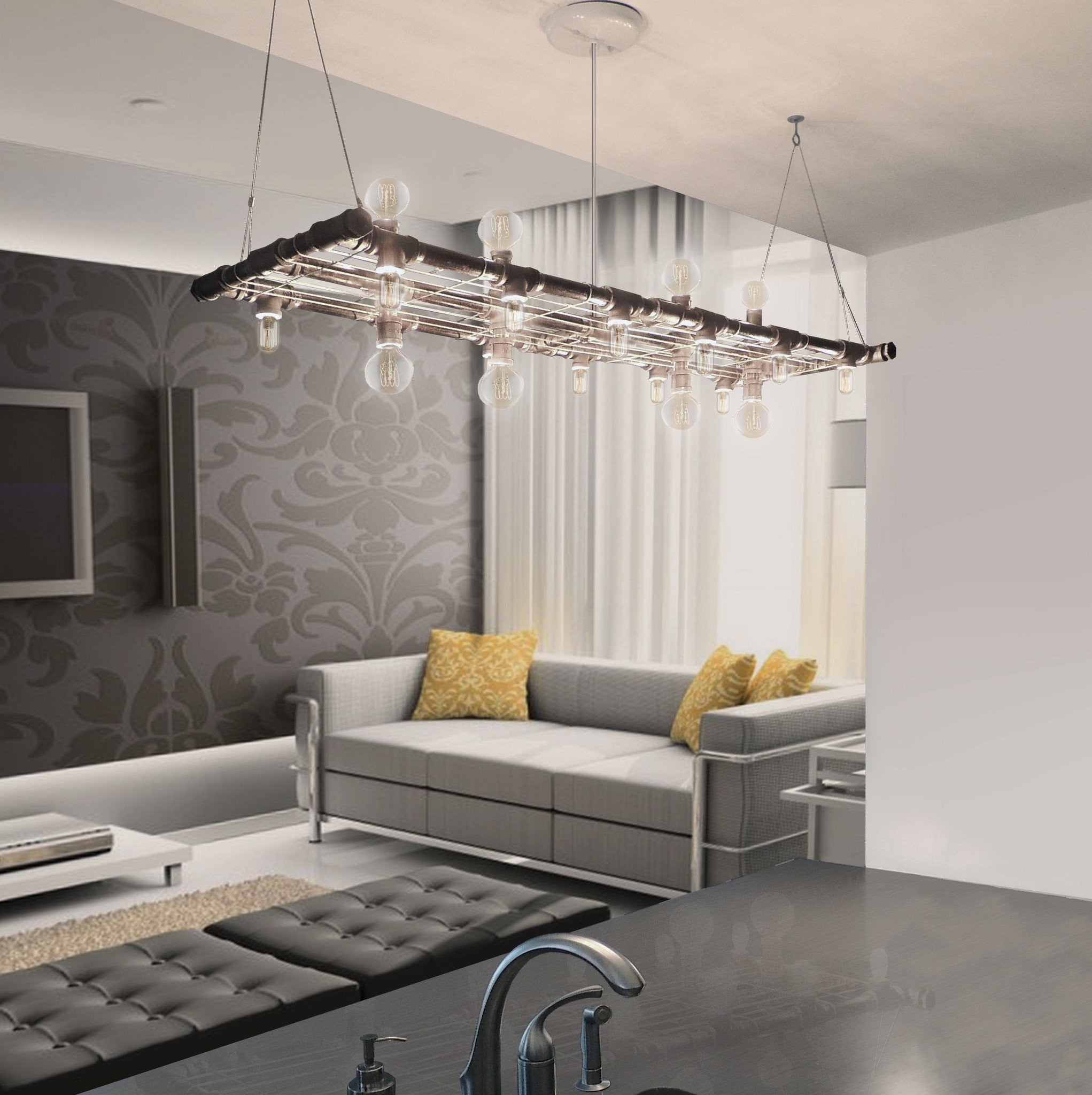 Raw Collection Banqueting Linear Suspension