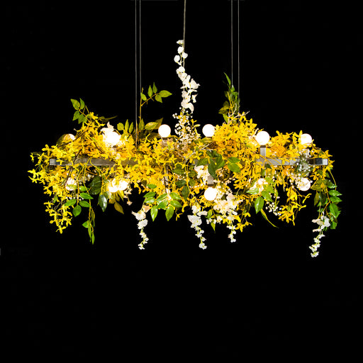 Matrix Spring Floral Linear Suspension - unique artistic lighting from Michael McHale Designs