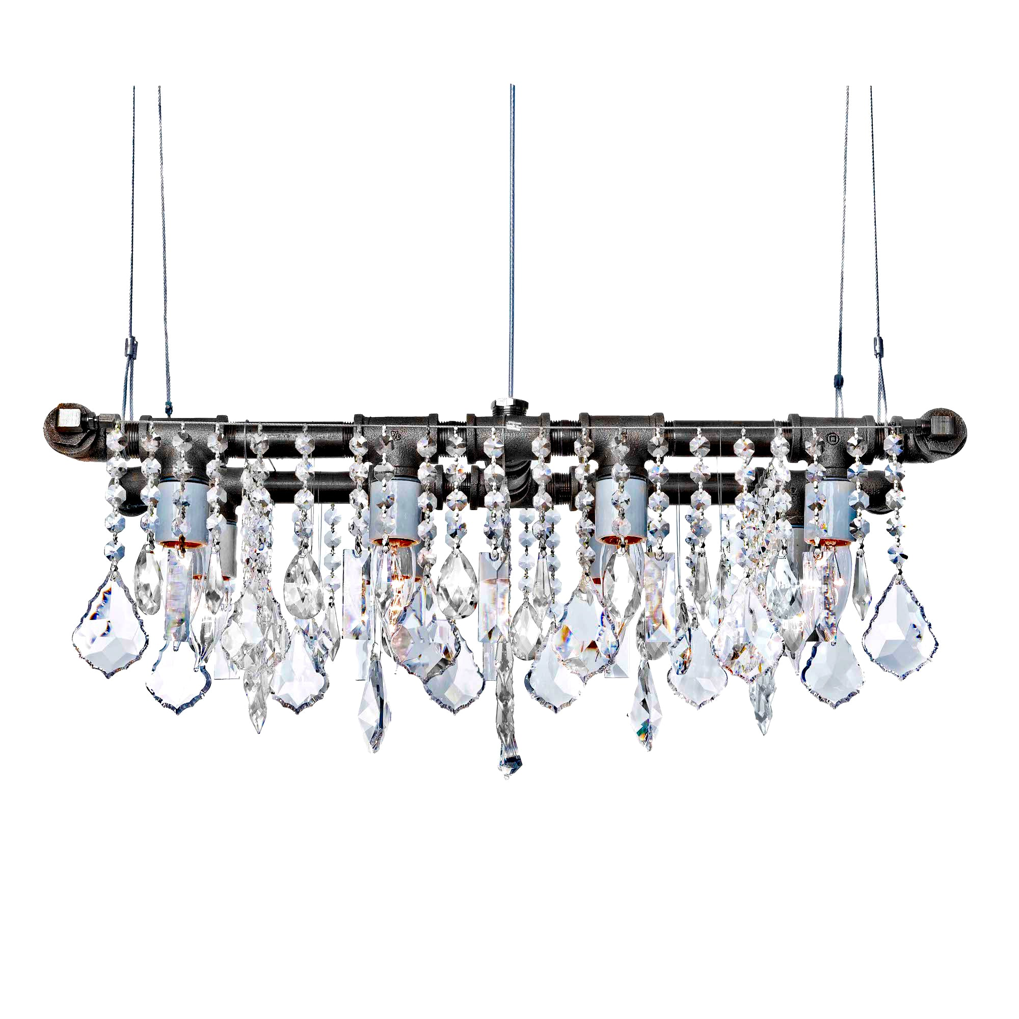 Industrial Mini-Banqueting Chandelier