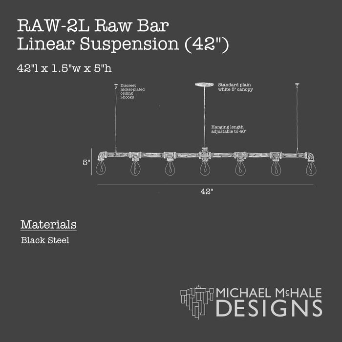 "Raw Bar Linear Suspension (42"")"