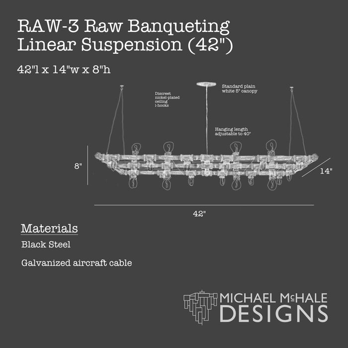 Raw Banqueting Linear Suspension (Rectangular)