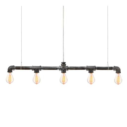 Raw Collection 5-Bulb Bar Linear Suspension - Michael McHale Designs