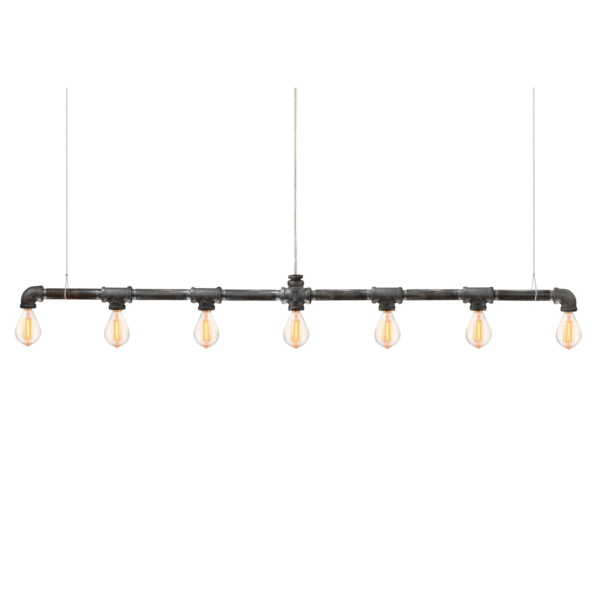 Raw Collection 7-Bulb Bar Linear Suspension