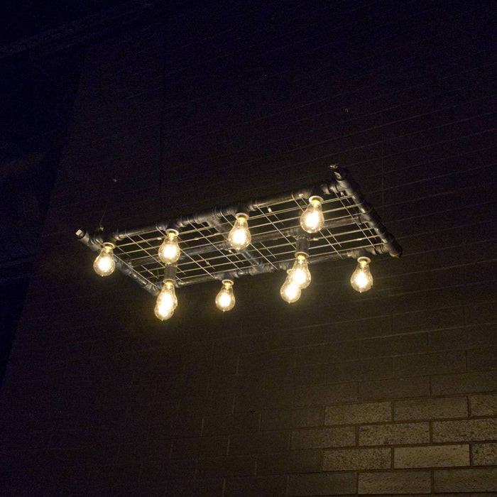 Raw Collection Mini-Banqueting Suspension - unique artistic lighting from Michael McHale Designs