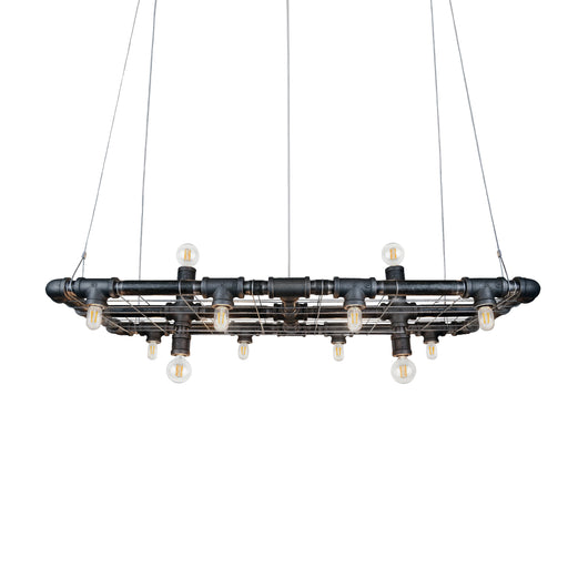 small industrial chandelier