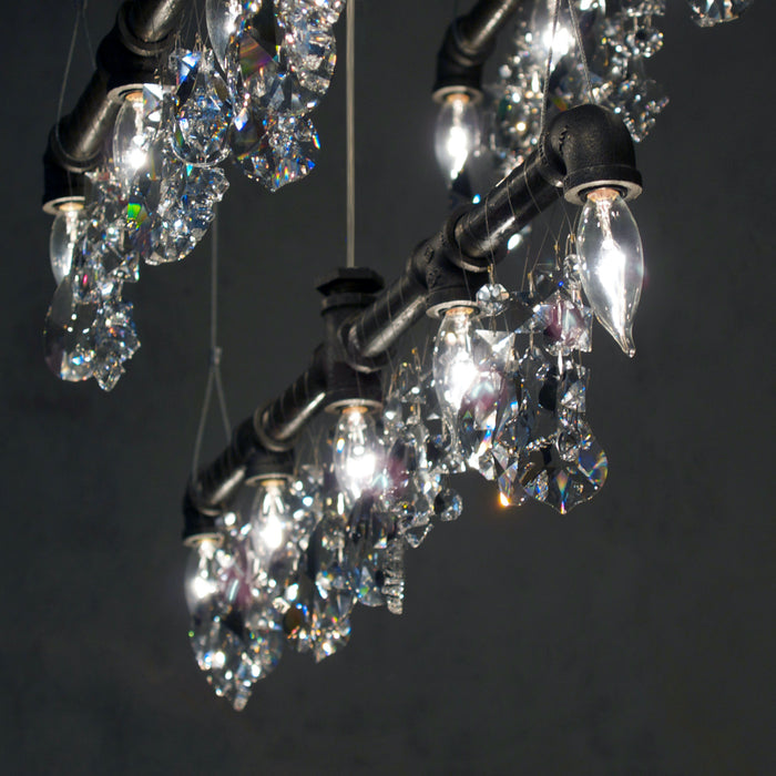 "Tribeca Bar Chandelier Linear Suspension (42"")"