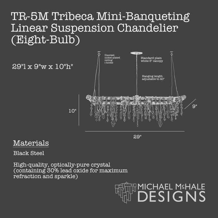 Tribeca Mini-Banqueting Chandelier (8-Bulb)