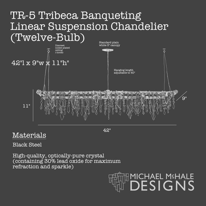 Tribeca Banqueting Chandelier (12 Bulb)