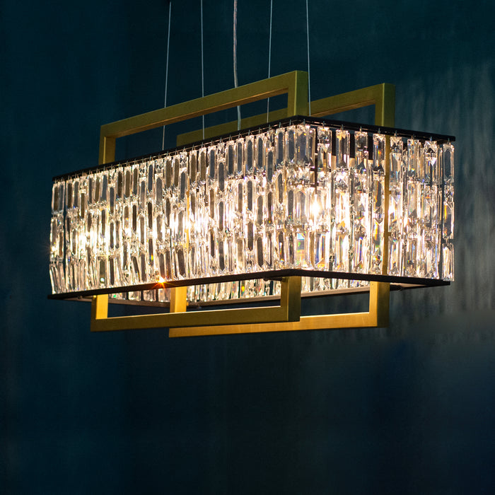 Bushwick Smart Home Chandelier Linear Suspension - unique artistic lighting from Michael McHale Designs
