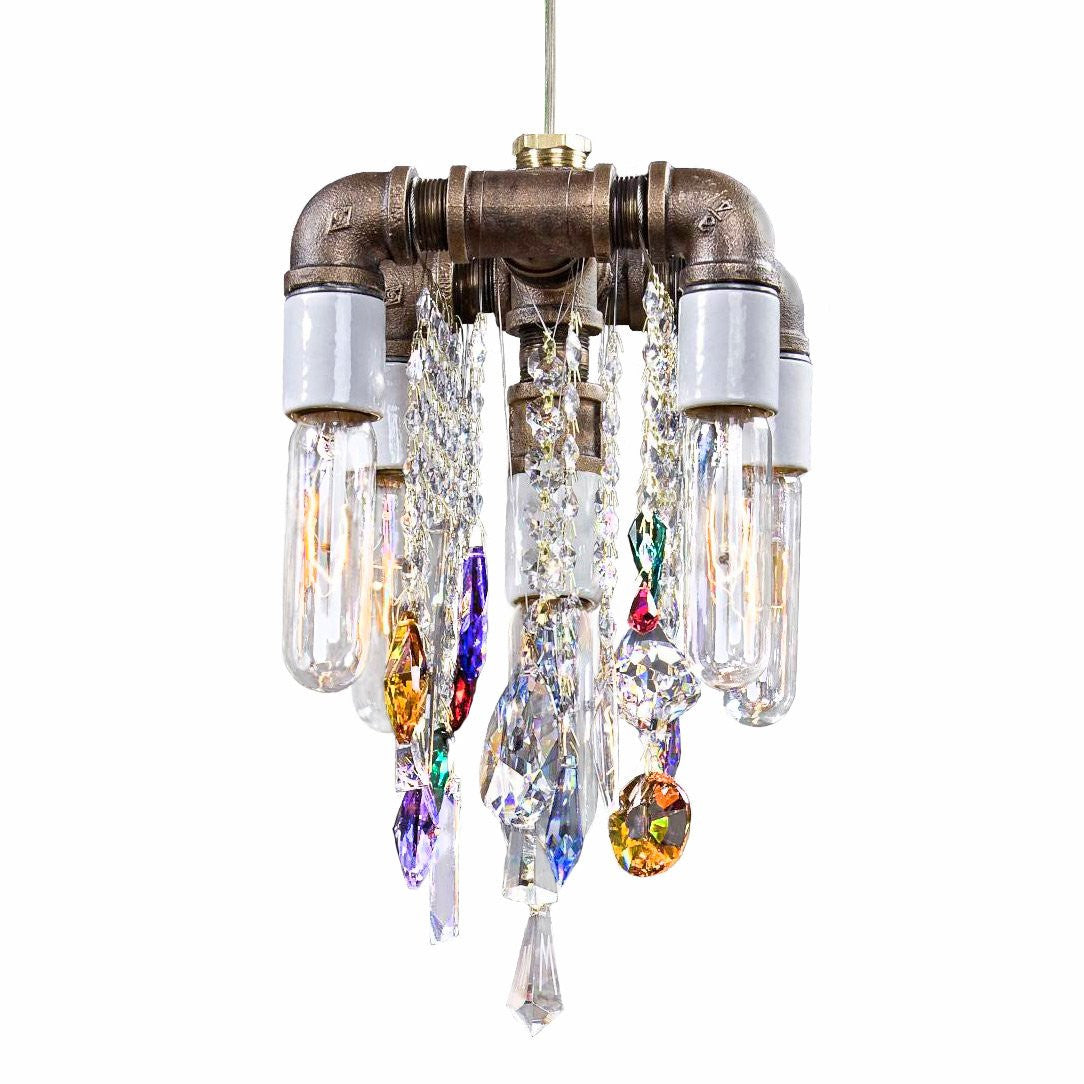 Industrial Collection Compact Pendant Chandelier