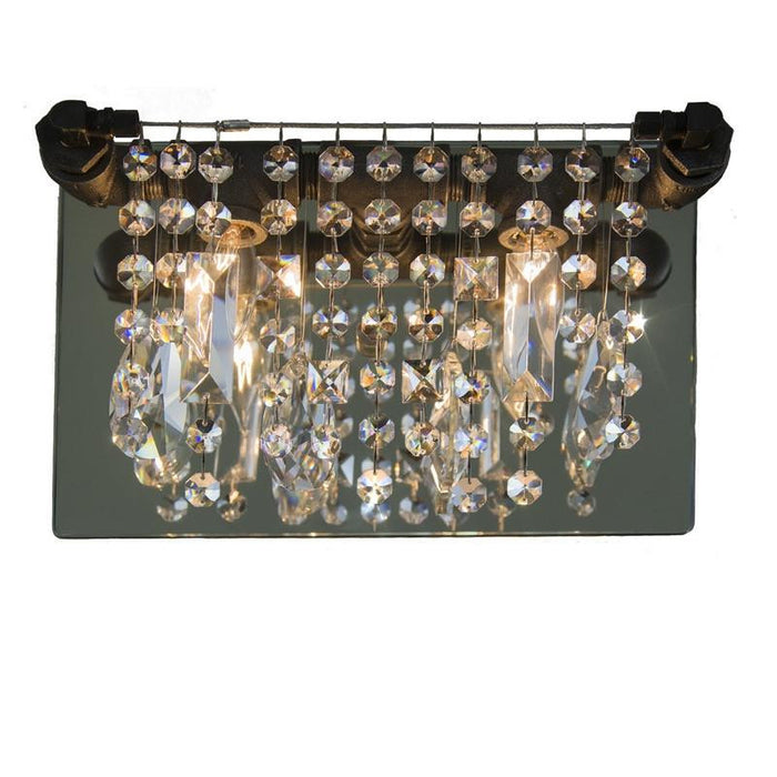 Tribeca collection; Modern sconce; modern lighting; crystal; steel; sparkly; lighting; chandelier