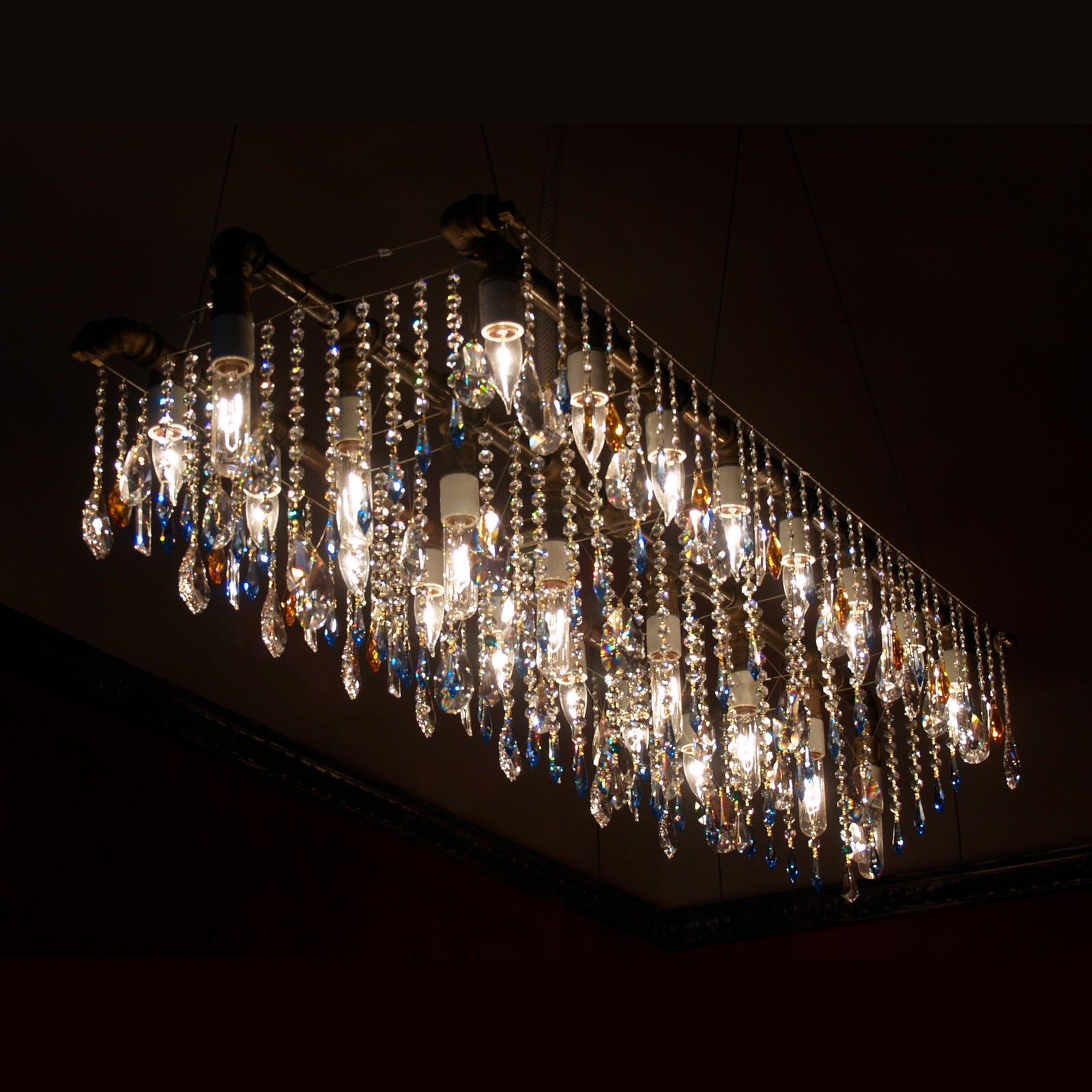 The amazing Industrial Triple-Rail Chandelier