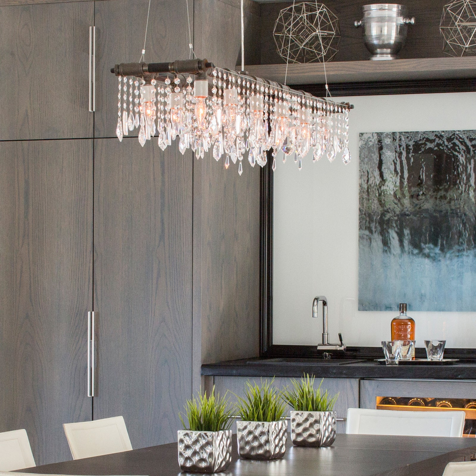 The Industrial Banqueting Chandelier Linear Suspension