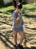 Striped T-Shirt Dresses