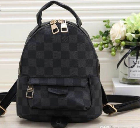 Black Checker Mini Backpack