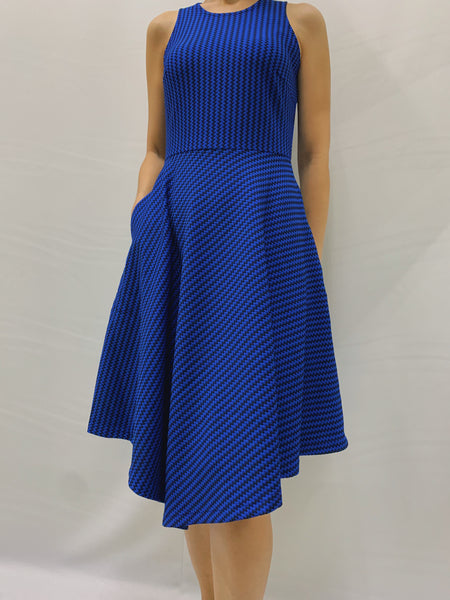 Trixia S/L Dress in Blue (78468)