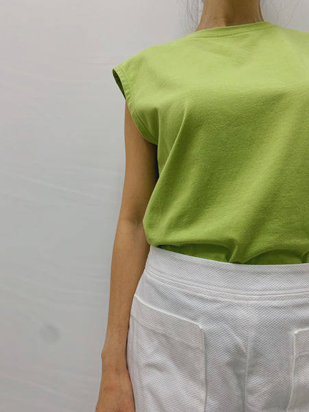 Caren Muscle Top in Green (18490)