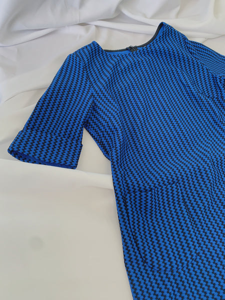 Trixia S/S Dress in Blue