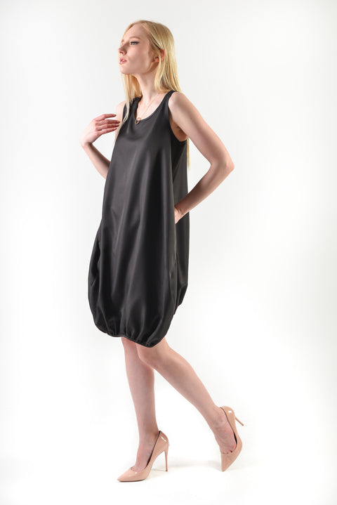 Bubble Hem Dress(77787) - Black