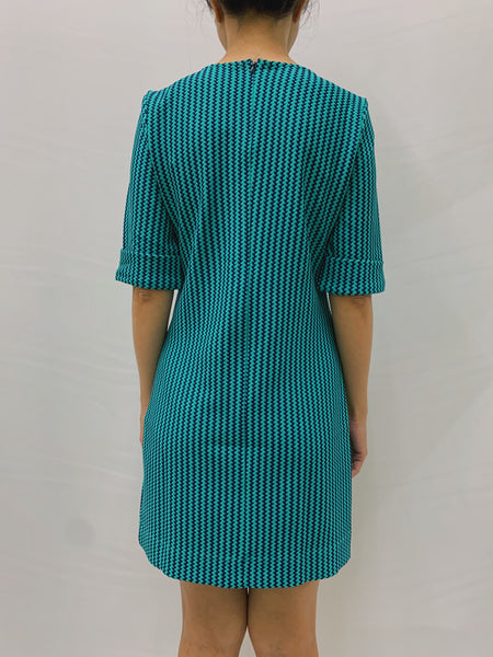 Trixia S/S Dress in Turquoise