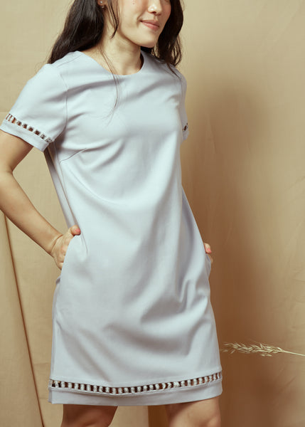 En En Short Sleeve Dress Grey(78456)