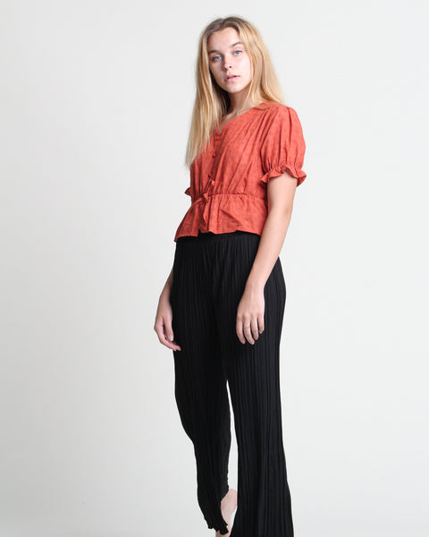 Mini Pleat Long Pants (58422)