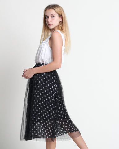 Dotty Skirt Black (38451)