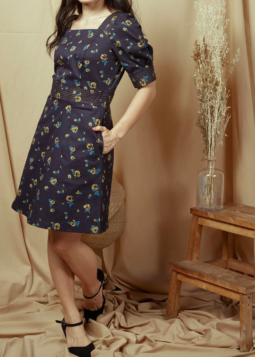 Daisy Print Dress (78362)