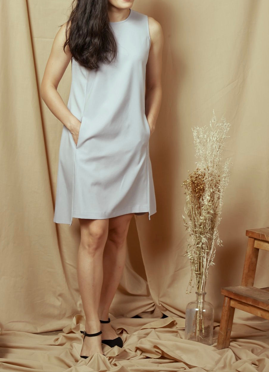 En En Sleeveless Dress Grey(78455)