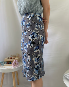 Garden Bias Skirt Grey (38334)