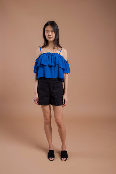 Greece Off-Shoulder Top Blue (17664)