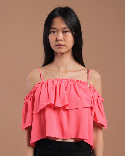 Greece Off-Shoulder Top Pink (17664)