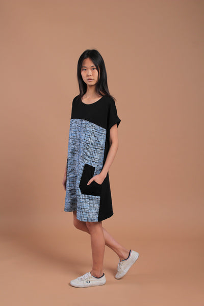 Kimi Tweed Dress Blue (77674)