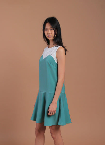 Iris Sleeveless Dress Jade (78068)
