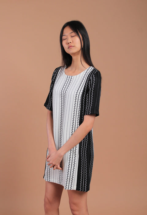 Barcode Dress Black/White (77752)