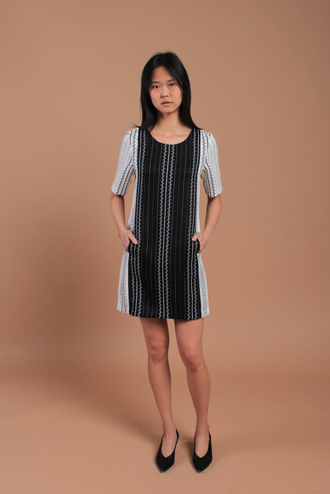 Barcode Dress White/Black (77752)