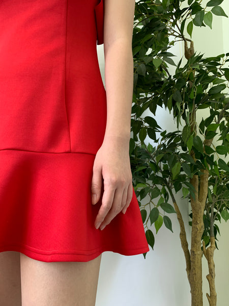 Kira Ruffle Dress Red (78248)