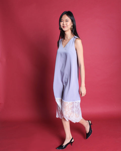 Mori Midi Dress Grey (78230)