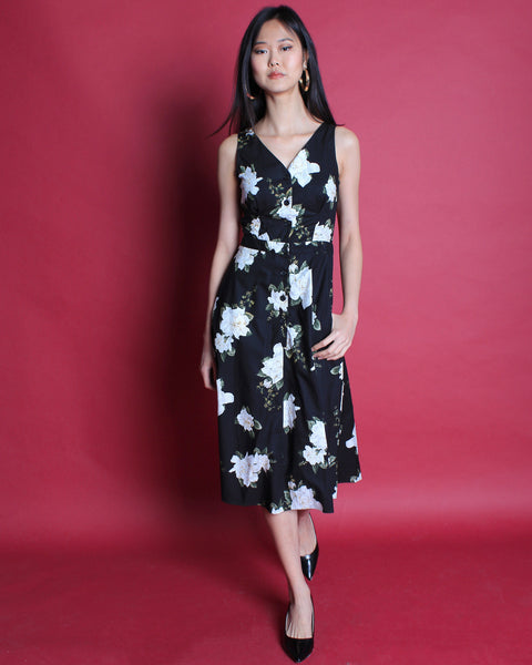 White Rose Midi Dress (78193)